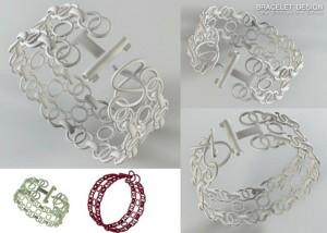 Afinia 3D printed jewelery